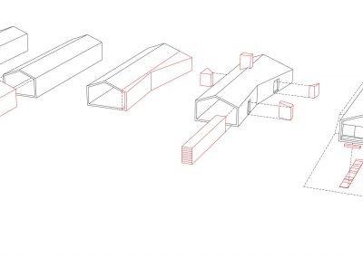 case-ville-montefiascone-volume-casa-A - Studio Gamp! Architettura
